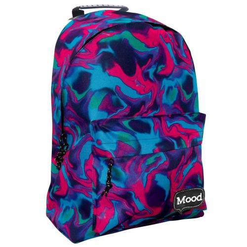 Τσάντα Πλάτης Εφηβική Mood Sigma Φουξ - Μπλε με 2 Θήκες
