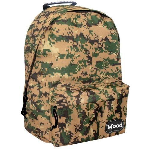Τσάντα Πλάτης Εφηβική Mood Sigma Army Χακί με 2 Θήκες