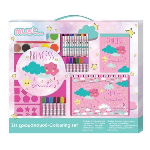 Σετ Χρωματισμού Must Cloud Princess 54x47 εκ.