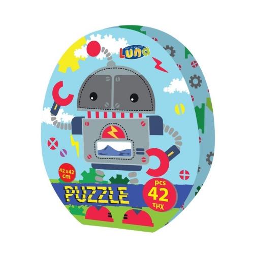 Παζλ Ρομποτάκι Luna Toys, 42 Τμχ., 42x42 εκ.
