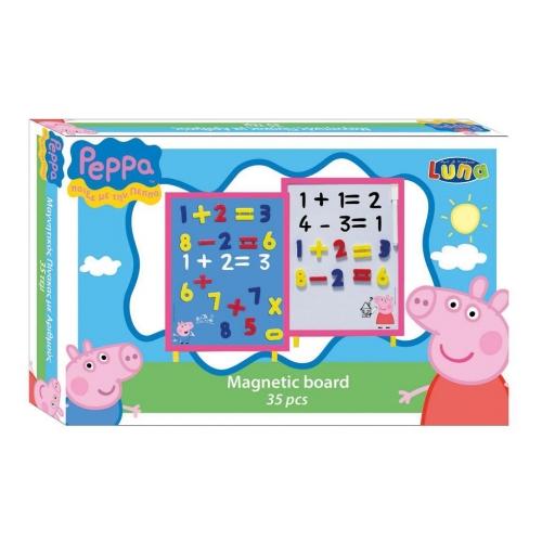 Μαγνητικός Πίνακας Peppa Pig Αριθμοί 35 Τμχ.