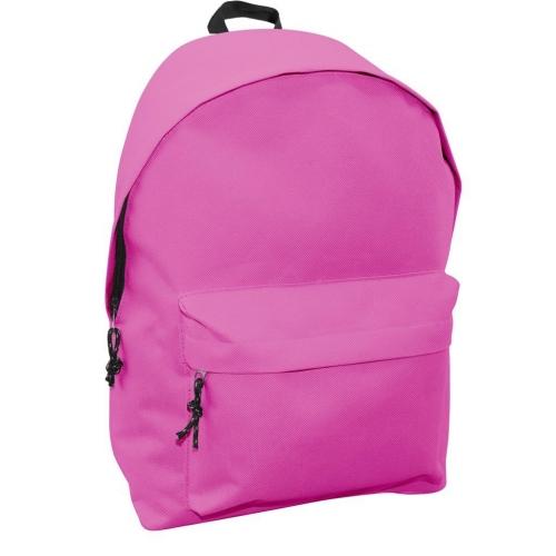 Τσάντα Πλάτης Εφηβική Mood Omega Ροζ Φωσφοριζέ με 2 Θήκες
