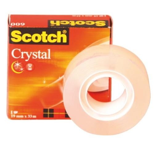 Σελοτέιπ Scotch 3M 600 Crystal 19mmx33m διάφανο