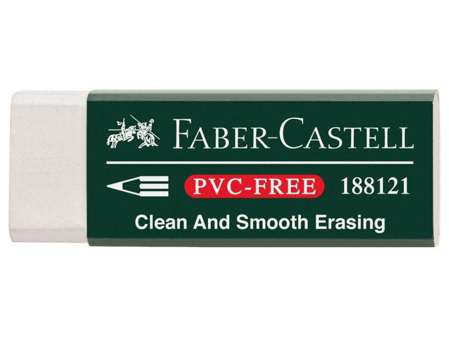 Γόμα Faber λευκή 188121 pvc-free