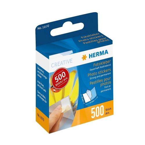 Διπλής όψης αυτοκόλλητα φωτογραφιών Herma 500 τεμ.