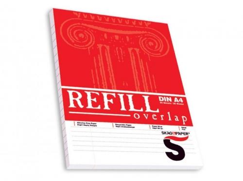 Μπλοκ Α4 Skag Refill 80φ κρικ κόκκινο όρθιο