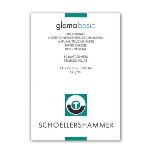 Μπλοκ ριζόχαρτο Α4 Schoeller 50 φύλλα 62 gr glama basic