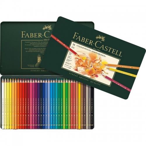 Ξυλομπογίες Faber 110036 Polychromos 36τεμ μεταλλική κασετίνα