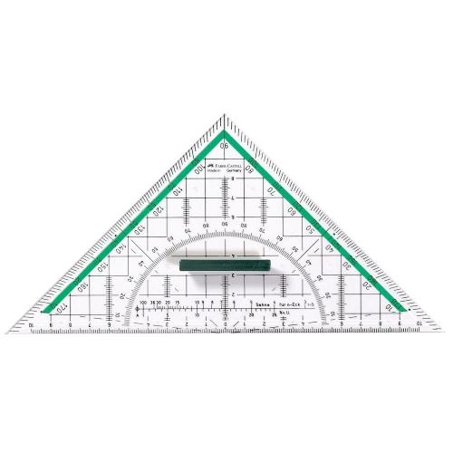 Τρίγωνο γεωδαιτικό Faber 177090 μοιρογνωμόνιο και λαβή