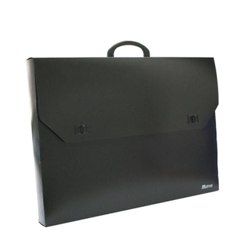 Τσάντα σχεδίου 65x85x5 cm Metron μαύρη