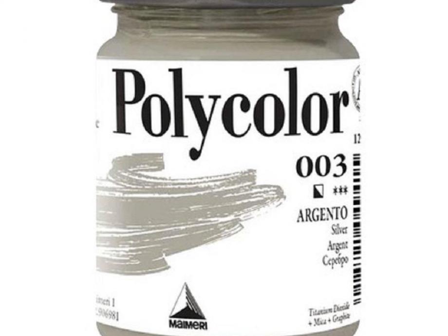 Ακρυλικό Maimeri Polycolor 140 ml 003 silver