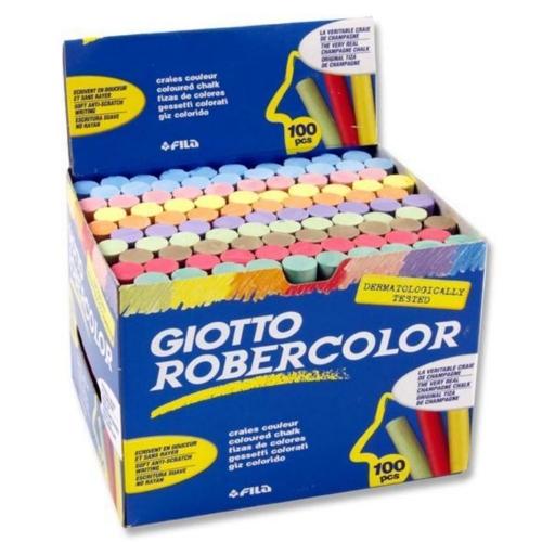 Κιμωλίες χρωματιστές πλαστικές Giotto 100 τεμ