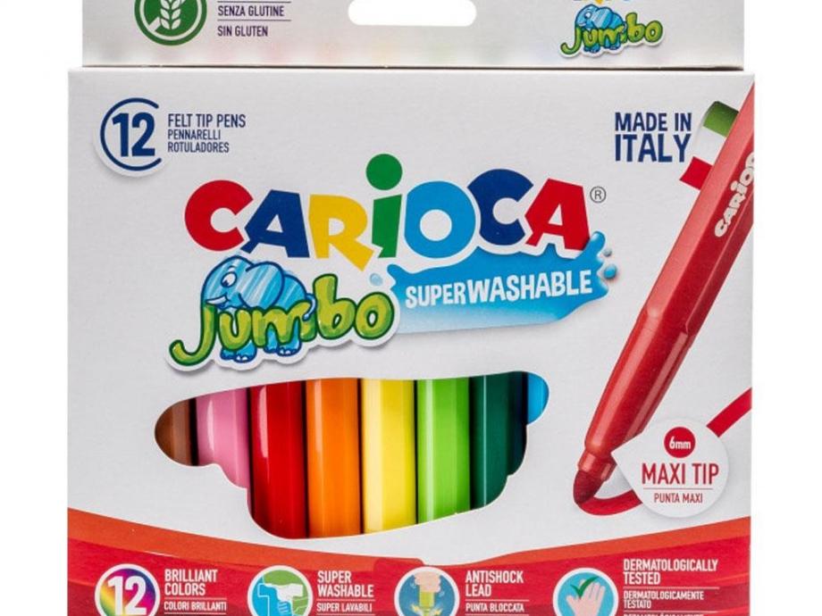 Μαρκαδόροι Carioca χοντροί 12 τεμ. 40569