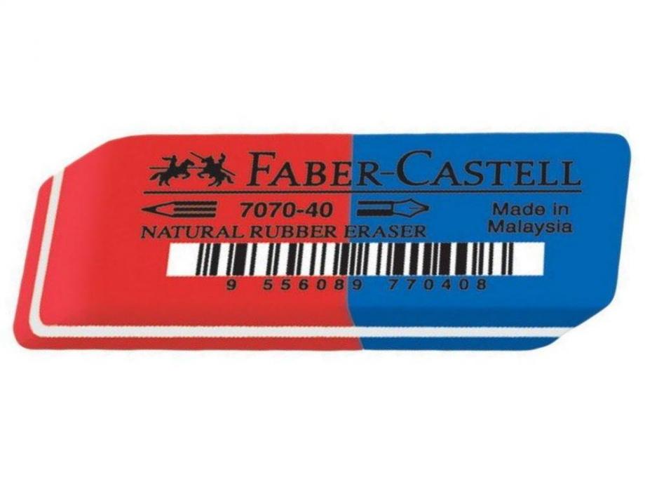 Γόμα Faber μπλε-κόκκινη 187040
