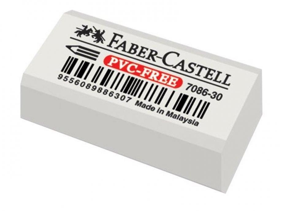 Γόμα Faber λευκή 7086-30