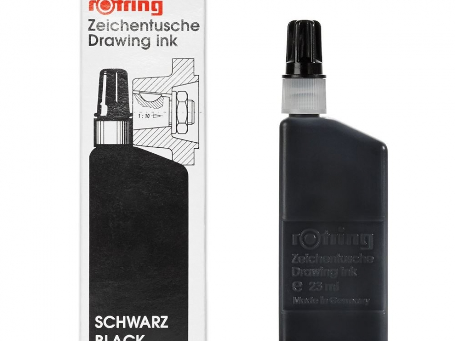 Μελάνι ραπιδογράφου Rotring 23 ml μαύρο