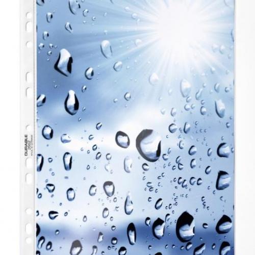 Ζελατίνες με τρύπες Α4 Durable 2668 100 τεμ γυαλιστερές