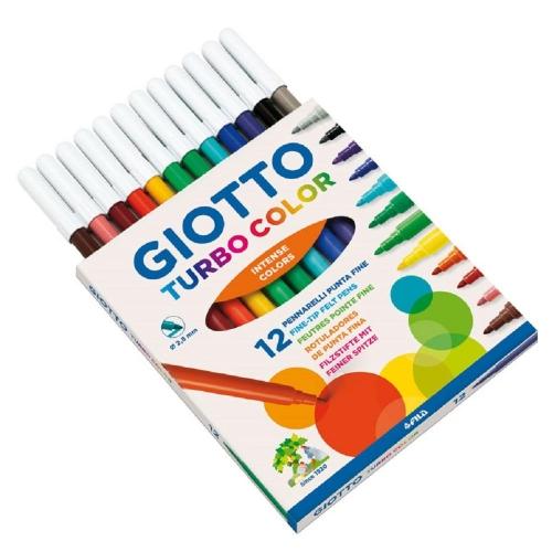 Μαρκαδόροι Giotto Tourbo color λεπτοί 12 τεμ.