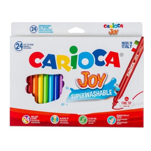 Μαρκαδόροι Carioca λεπτοί 24 τεμ. 40615