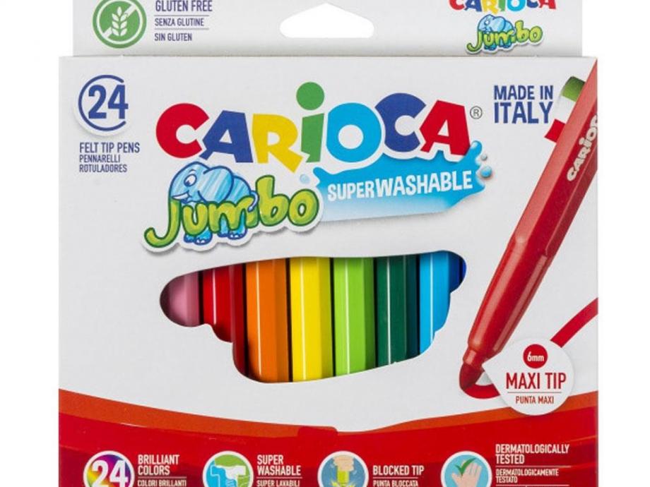 Μαρκαδόροι Carioca χοντροί 24 τεμ. 40570