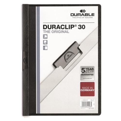Ντοσιέ με κλιπ Duraclip 30 φ μαύρο