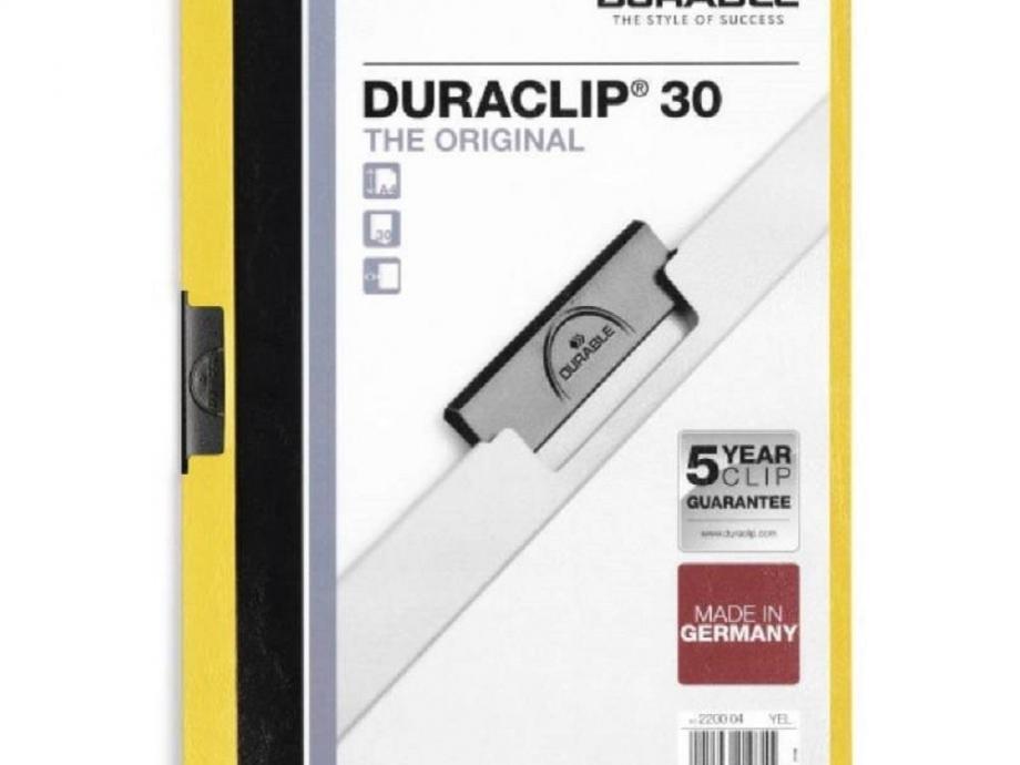 Ντοσιέ με κλιπ Duraclip 30 φ κίτρινο
