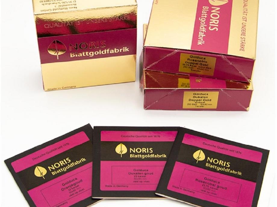 Φύλλα χρυσού γνήσιο 22Κ 80x80 mm 25 φύλλα αγιογραφίας Noris