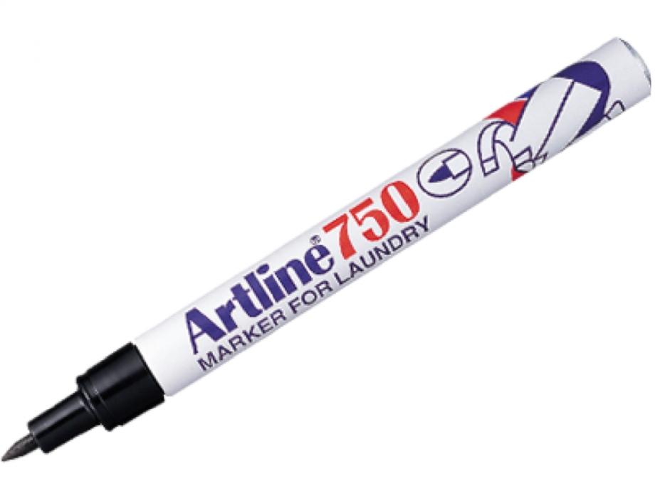 Μαρκαδόρος υφάσματος Artline 750 μαύρος 0,7 mm laundry
