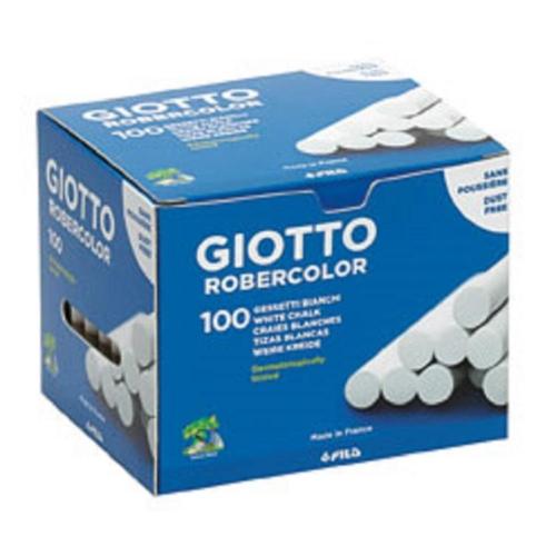 Κιμωλίες λευκές πλαστικές Giotto 100 τεμ