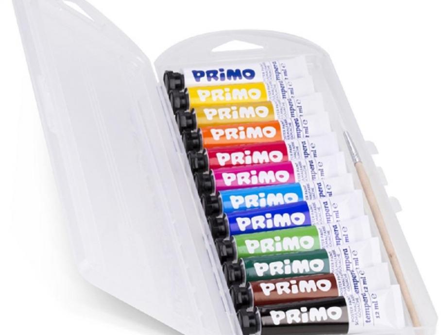 Σετ τέμπερες Primo CMP 12 τεμ x 12 ml με πινέλο 448T12AP
