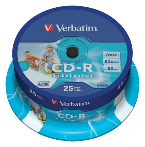 Cd-r Verbatim 43439 Printable 25 τεμ εκτυπώσιμα