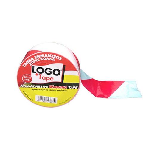 Ταινία σήμανσης 50 mm x 200 m Logo κόκκινη/λευκή
