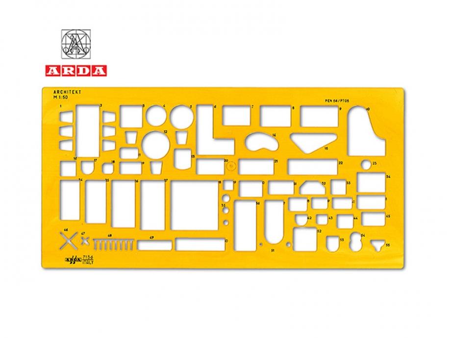 Στένσιλ αρχιτεκτονικό επίπλων Arda 7136