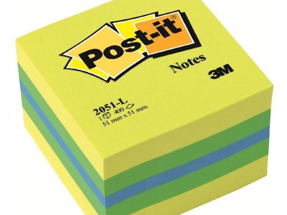 Χαρτάκια Post-it 3M 51x51 400Φ 2051L