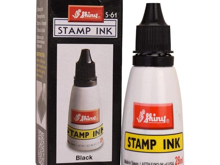 Μελάνι σφραγίδας Shiny S61 μαύρο 28 ml