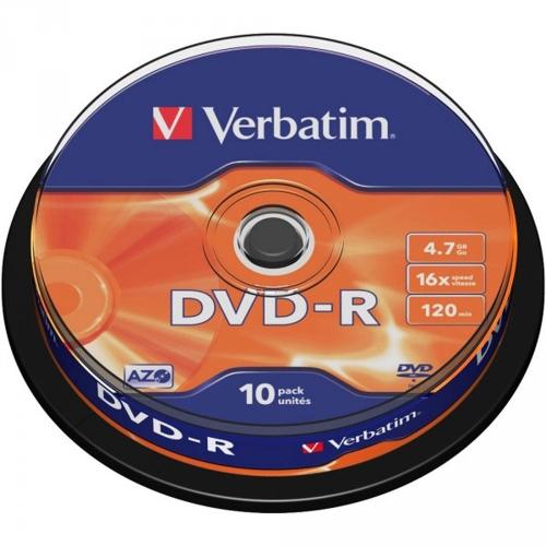Dvd-r Verbatim 43523 πομπίνα 10 τεμ