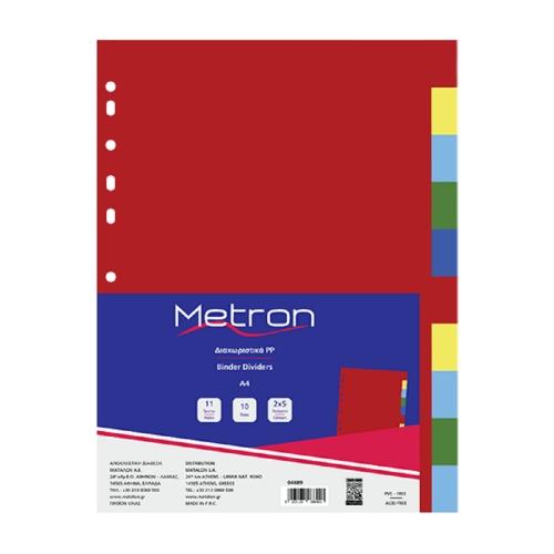 Διαχωριστικά ευρετήρια 1-10 Metron χρωματιστά
