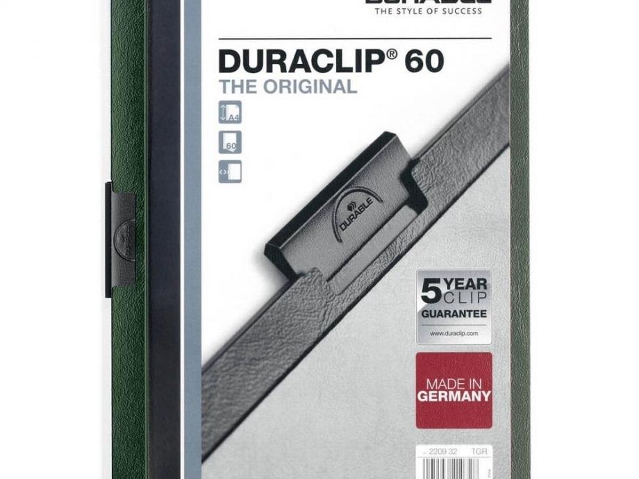 Ντοσιέ με κλιπ Duraclip 60 φ πράσινο