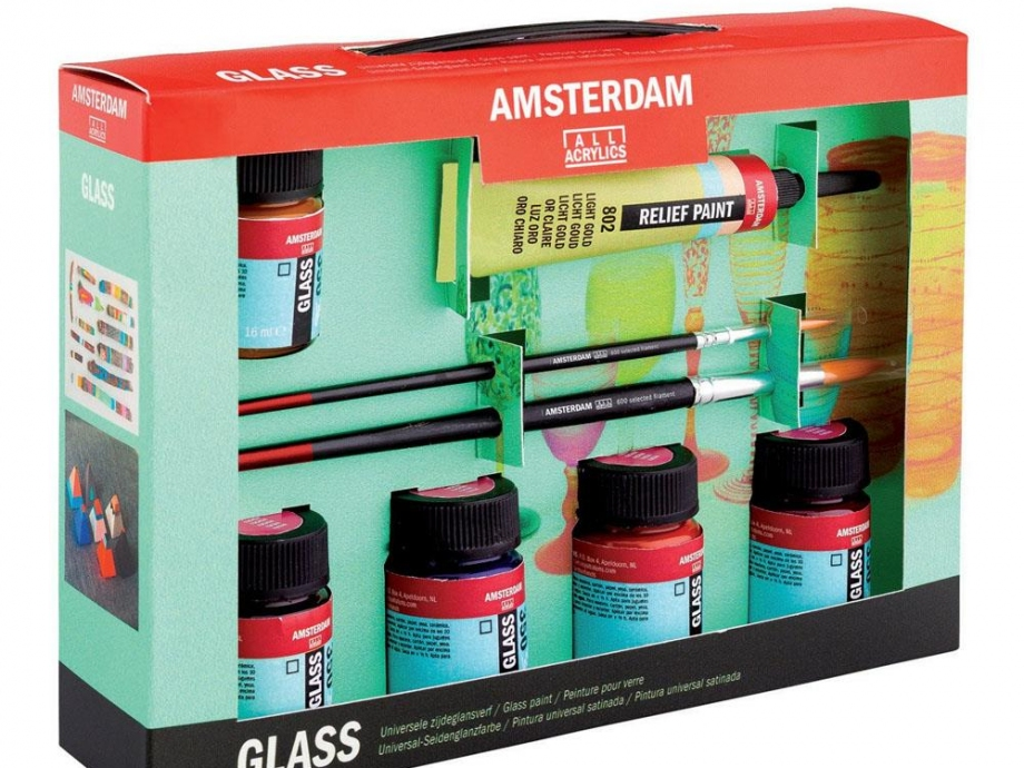 Σετ Amsterdam Glass 5 x16ml Talens 54821608