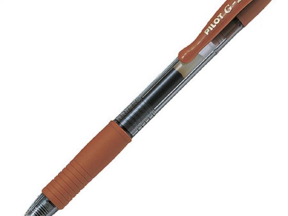 Στυλό Pilot g2 0,7 καφέ