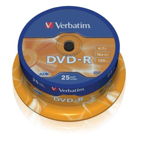 Dvd-r Verbatim 43522 πομπίνα 25 τεμ