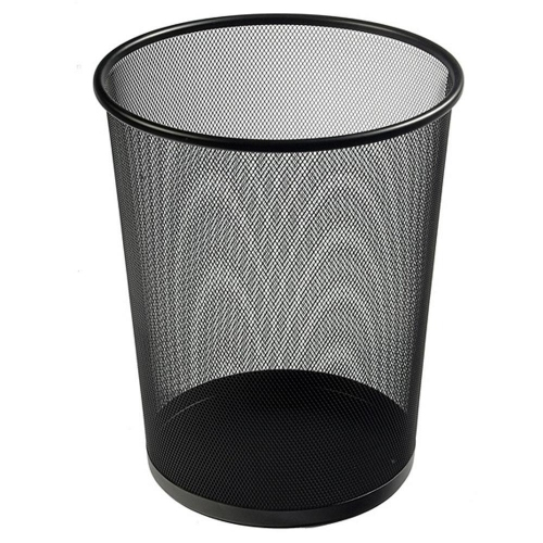 Καλάθι αχρήστων συρμάτινο μεταλλικό μαύρο