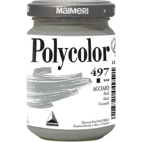 Ακρυλικό Maimeri Polycolor 140 ml 497 steel