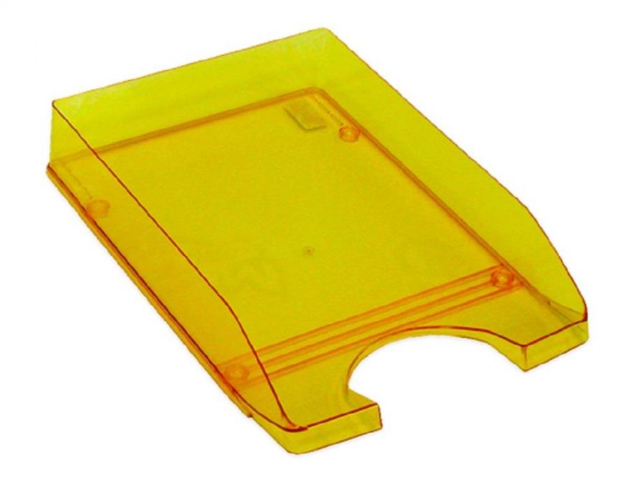 Δίσκος γραφείου πλαστικός διάφανος πορτοκαλί