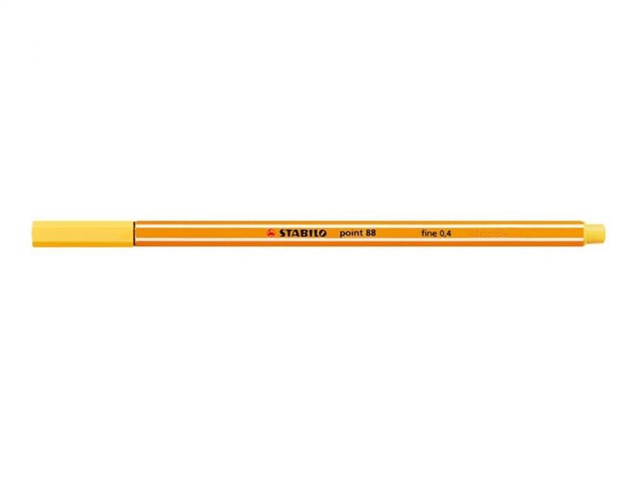 Μαρκαδοράκι Stabilo point 88 yellow 44