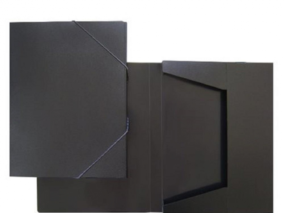 Κουτί λάστιχο 25x33x3 cm μαύρο ματ