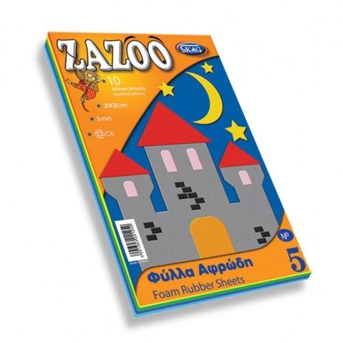 Χαρτί αφρώδες Zazoo 20x30 cm 10 φύλλα