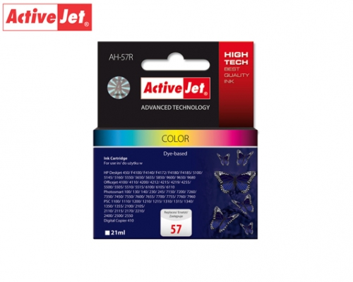 ACTIVE JET INK ΣΥΜΒΑΤΟ ΜΕ HP AH-57R #57 TRICOLOR 21ml (Α) #C6657AE