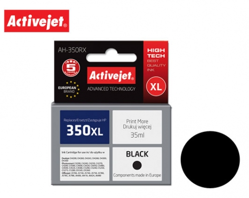 ACTIVE JET INK ΣΥΜΒΑΤΟ ΜΕ HP AH-350RX #350XL BLACK 35ml (Α) #CB336EE