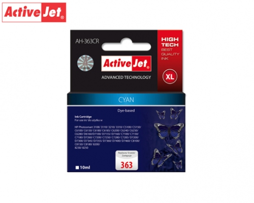 ACTIVE JET INK ΣΥΜΒΑΤΟ ΜΕ HP AH-363CR #363XL CYAN 10ml (Α) #C8771EE